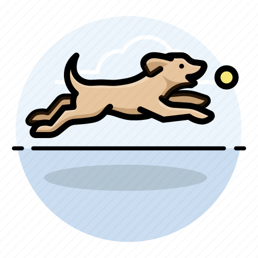 d, dog, fetching icon