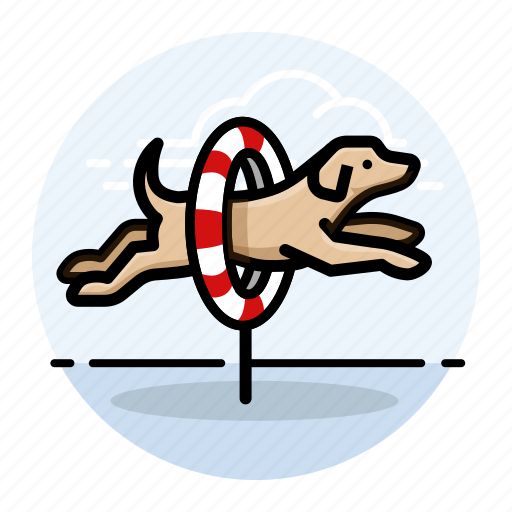 agility, do, dog icon