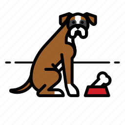 bone, boxer, dog icon