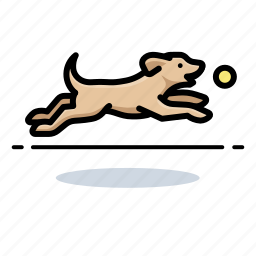 dogs, fetching, labrador retriever, pets icon