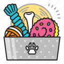 care, dog, goods, pet, puppy, toy icon
