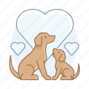 breeder, mother dog, pet, puppy icon
