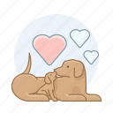 breeder, dogs, pet, puppy icon