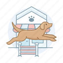 agility, dog, doggy, dogs, pet, puppy icon