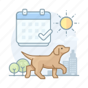 calendar, dogs, pet, registration icon