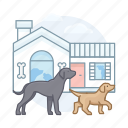 dog house, dogs, pet, puppy, dog icon