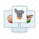 dogs, pet, photos icon