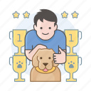 dog competition, dog show, results icon