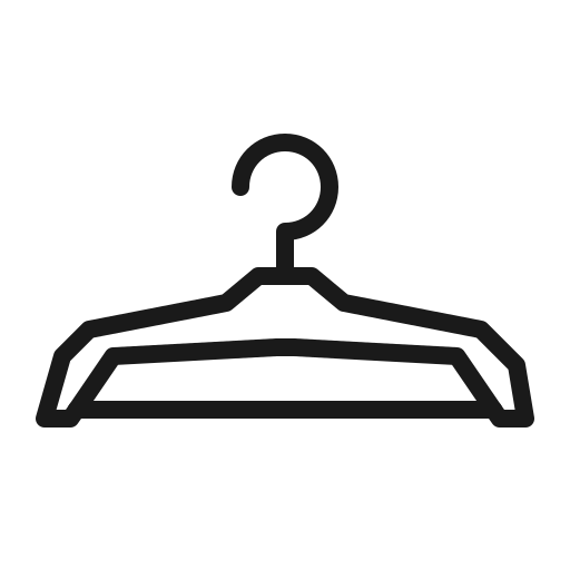 cloth, clothe, coat, hanger, house icon