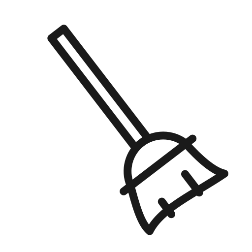 broom, clean, cleaning, dust icon