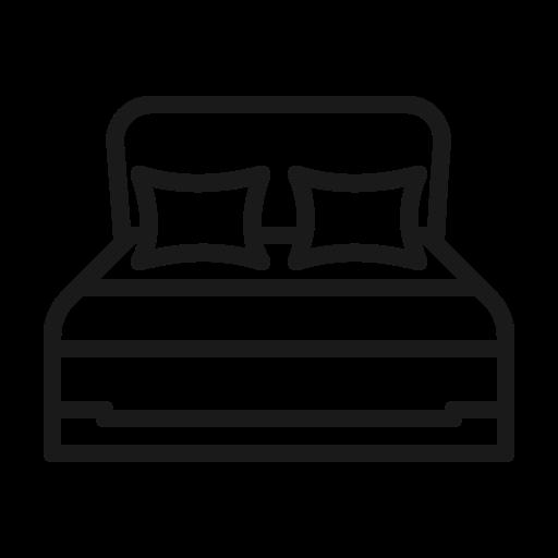 bed, furniture, sleep, sleeping bed icon