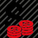 bank, business, cash, dollar, finance, money, coins