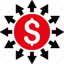 business, dollar, finance, money, pay, payment, payouts icon