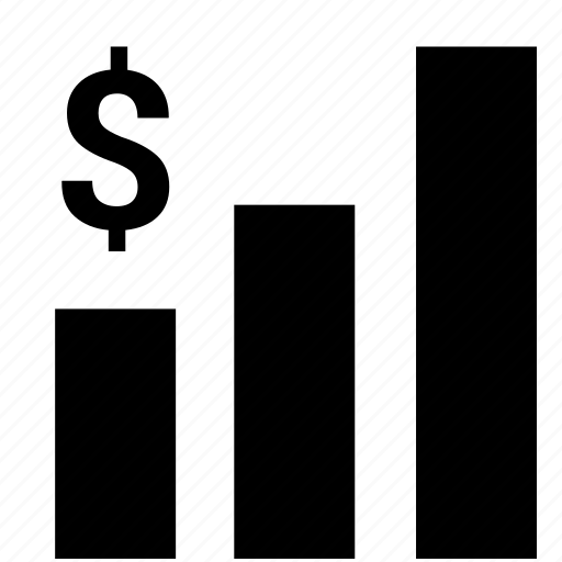 bar, chart, dollar, economic, exchange, grow, rate icon