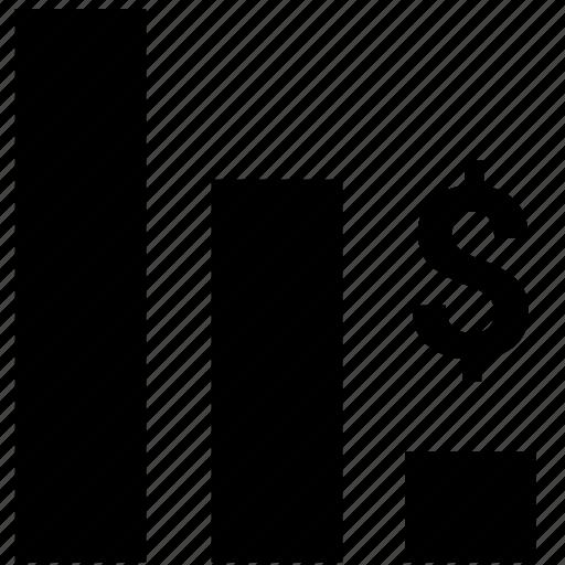 bar, chart, dollar, economic, exchange, minimum, rate icon