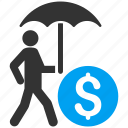 care, financial insurance, protection, safety, security, shield, umbrella icon