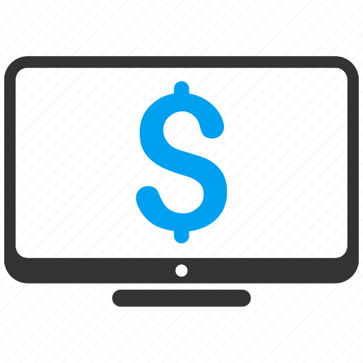 desktop, display, dollar, equipment, monitor, pc, screen icon