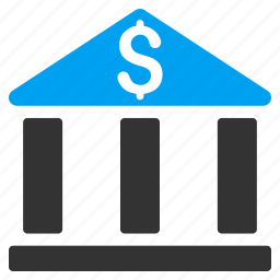 bank office, building, business, corporation, financial company, house, money icon