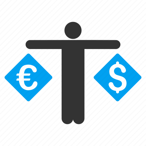 banker, business, currency trader, exchange, market, money, person icon