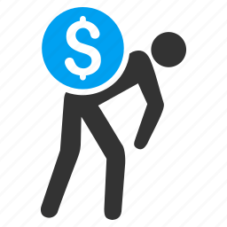 business, delivery, financial courier, money, payment, porter, transportation icon