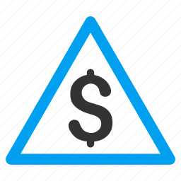 attention, bank, finance, financial, money, safety, warning icon