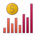 analytics, chart, currency, diagram, money, report, seo icon
