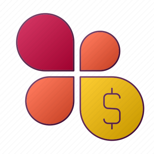 analytics, chart, dollar, flower, money, report, seo icon