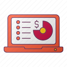 analytics, chart, currency, money, report, seo icon
