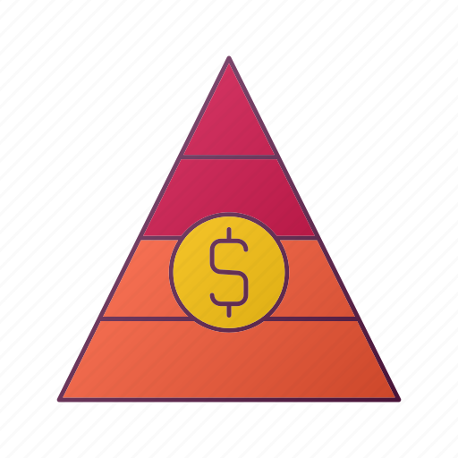 analytics, chart, money, piramid, report, seo icon