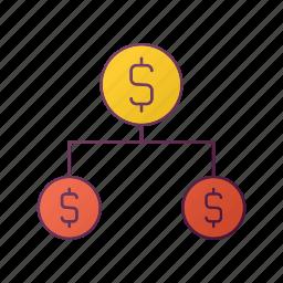 analytics, chart, money, report, seo, share icon