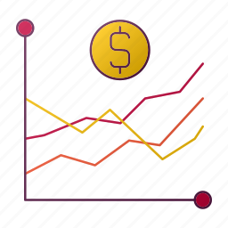 analytics, chart, currency, finance, graph, money, seo icon
