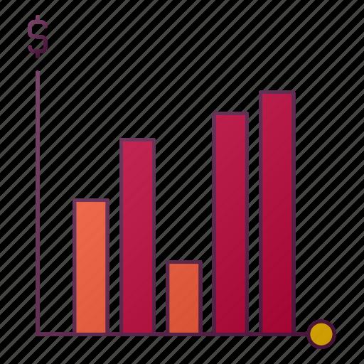 analytics, chart, graph, money, report, seo icon
