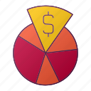 analytics, chart, dollar, finance, money, report, seo icon