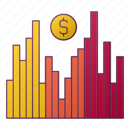currency, dollar, money, seo, staticsgraph icon