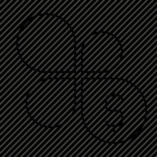 dollar, flower, graph icon