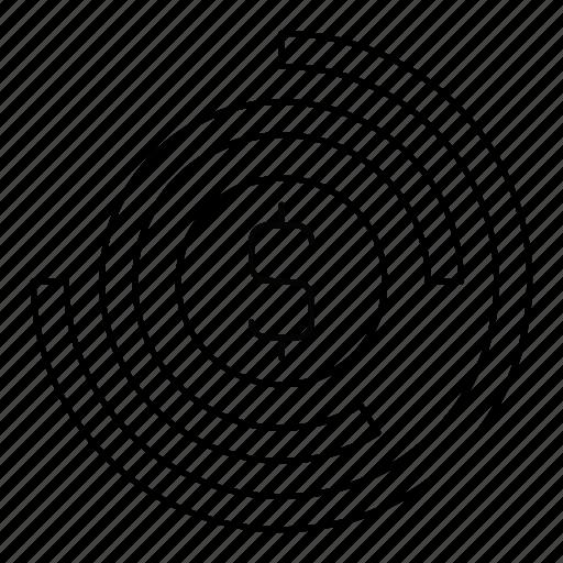 analytics, chart, dolllar, graph, report icon