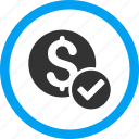 approved, choice, financial, money, ok, payment, success icon