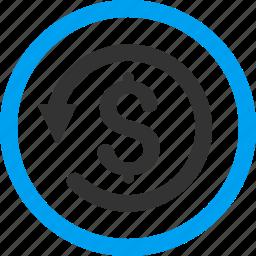 chargeback, money back, refund, restore, reverse, revert transaction, rollback icon