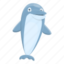 dolphin, hand, marine, water