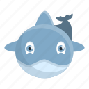 dolphin, nature, fish, baby, water, front