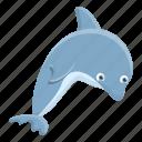beach, dolphin, smart, water
