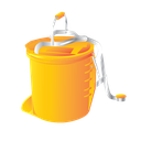 bucket, cleaning, foot, janitor, wringer icon