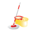 bucket, cleaning, container, janitor, mop, mop and bucket icon