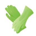cleaning, gloves, janitor, rubber icon