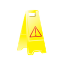 cleaning, janitor, safety sign, sign, slide, slippery when wet icon