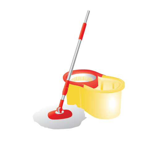 Bucket Cleaning Container Janitor Mop Mop And Bucket Icon
