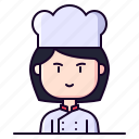 avatar, chef, cook, female, profession