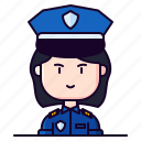 avatar, cop, female, police, profession, woman