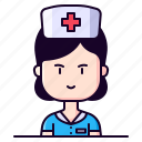 avatar, female, healthcare, nurse, profession