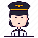 avatar, female, pilot, profession, wingman